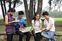 Indian Students Doing Group St...
