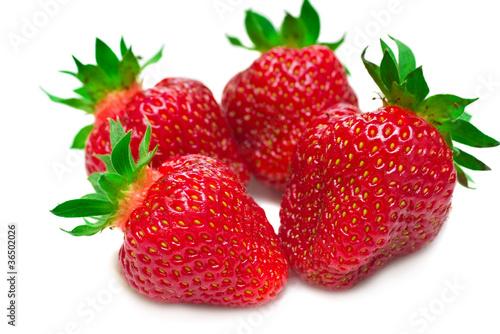 Foto op Aluminium Vruchten Strawberries