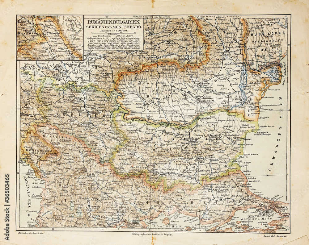 Vintage Map Of Eastern Europe Poster Sold At Europosters