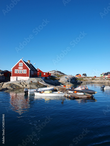 Acrylic Prints Arctic Oqaatsut fisher village.