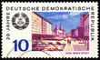 German city Karl-Marx-Stadt on post stamp