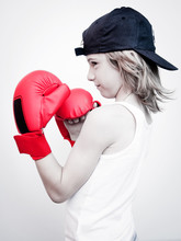 Child With Boxing Gloves - Bam...