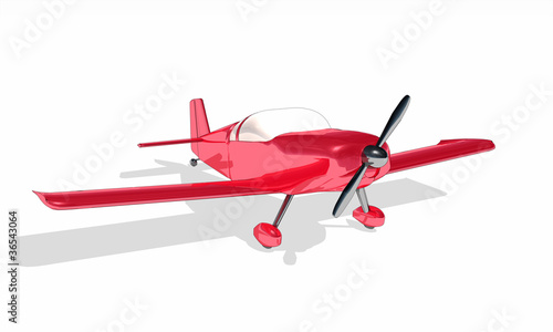 Canvas Clipart - Rotes Flugzeug