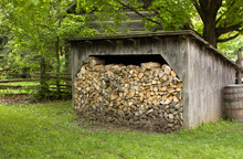 Old Shed With Firewood