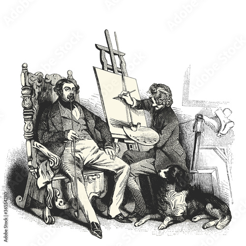Le peintre Poster
