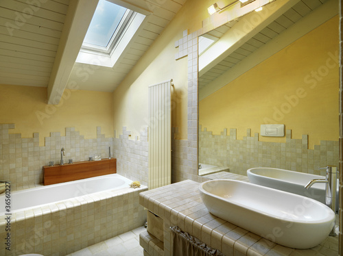 Bagno moderno in mansarda buy this stock photo and explore