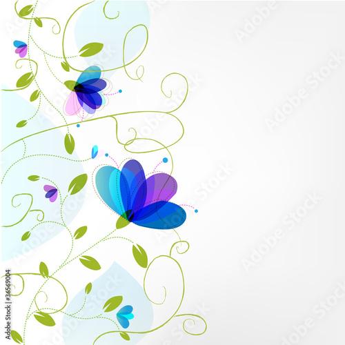 Spoed Fotobehang Abstract bloemen Flower Background