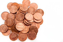 US Pennies With Copy Space