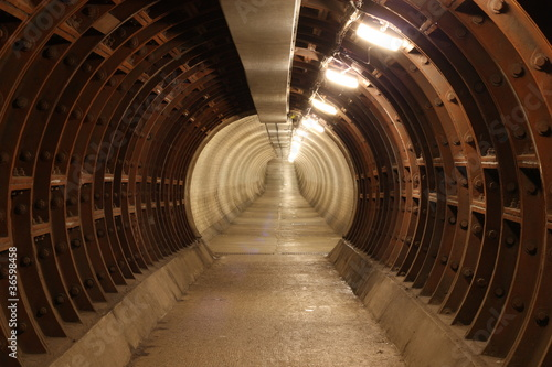 greenwich foot tunnel, london. #36598458