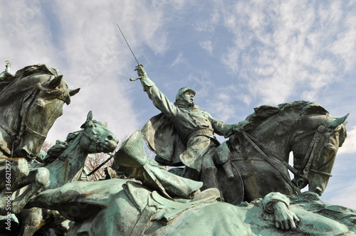 Fotografie, Tablou  Civil War Soldier Statue