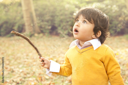 Photo autumn child