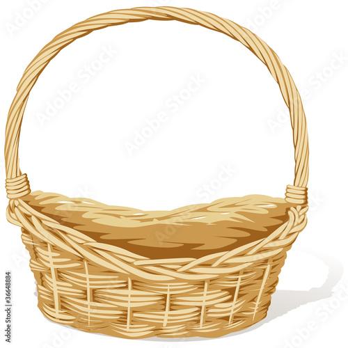 Fotografija  empty vector basket