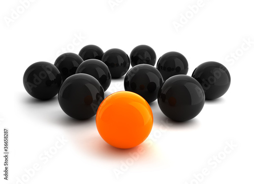 Balls - Leadership illustra...