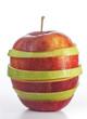 Apfel rot-grün