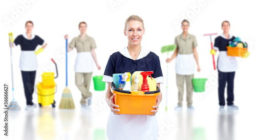 Cleaner maid woman.