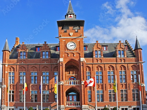 Foto op Plexiglas Antwerpen Rathaus (stadhuis) in KNOKKE-HEIST - Belgien