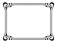 Art Nouveau Ornamental Decorative Frame