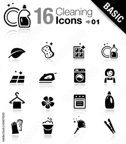 Fotografie, Obraz Basic - Cleaning Icons
