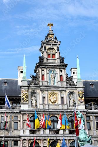 Keuken foto achterwand Antwerpen Rathaus Antwerpen