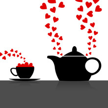 Teapot With A Love Drink. A Ve...