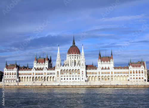The Hungarian Parliament Building, in front