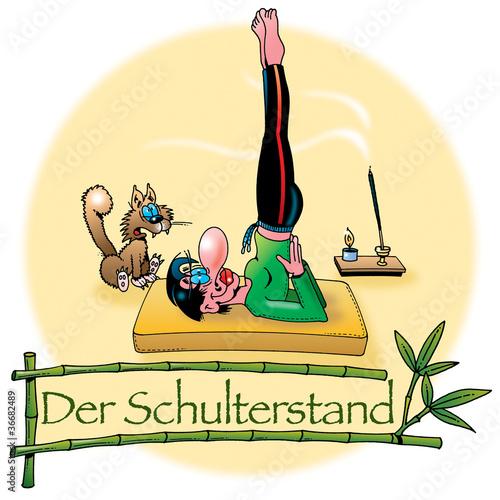 Hatha Yoga Asanas Der Schulterstand Buy This Stock Illustration And Explore Similar Illustrations At Adobe Stock Adobe Stock