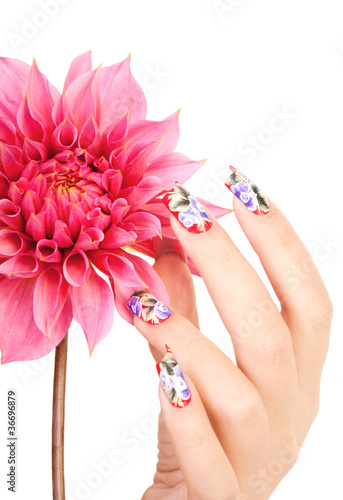 NAILS AND FLOWER Poster