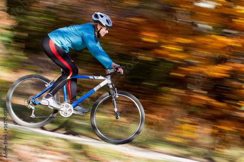 Papiers peints Cyclisme Mountain biking down the trail
