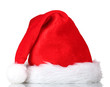 Beautiful Christmas hat isolated on white
