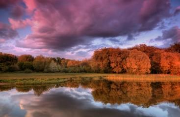 Fototapeta Wiejski lake