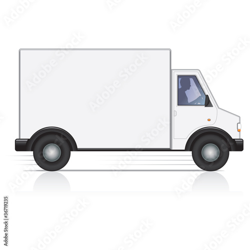 Vector White Van And Man Driver Isolated Buy This Stock Vector