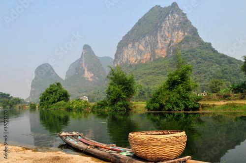 Panier d'osier en Chine.