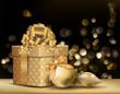 Golden Christmas Background.