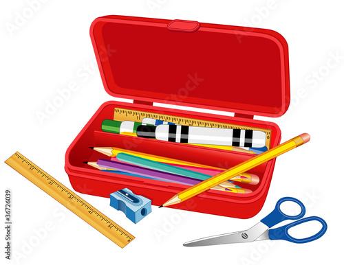 Fotografia Pencil Box for School, Home and Office.