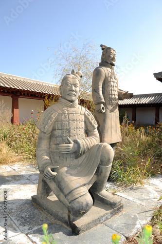 Foto op Plexiglas Xian terracotta army figure in china
