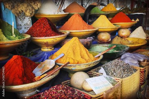 In de dag Marokko Spice market