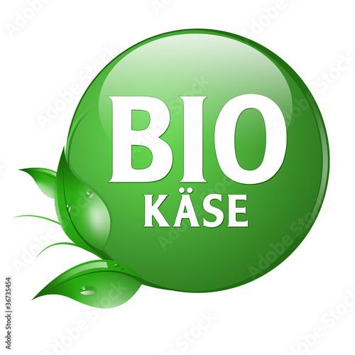 biokäse button label logo Poster