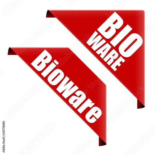bioware button ecke rotes band Canvas Print