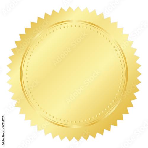 Fotografía  Vector illustration of gold seal