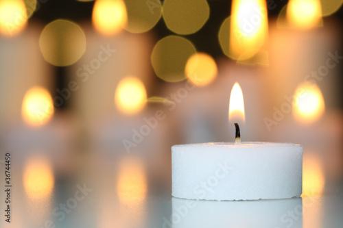 Plissee mit Motiv - Kerzenlicht