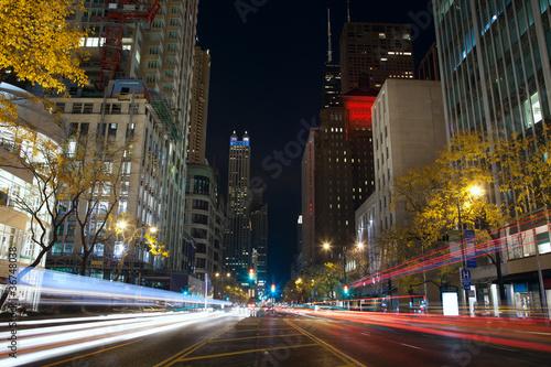 Poster Chicago Michigan Avenue in Chicago.