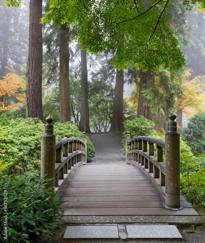 Obraz w ramie Mostek w lesie