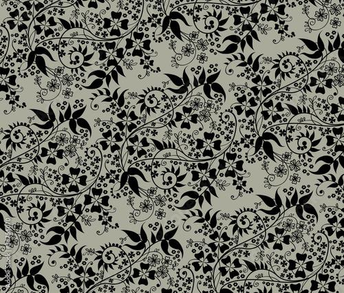 tapeta-z-czarnymi-kwiatami