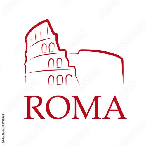 Drawing Logo Roma Vector Buy This Stock Vector And Explore Similar Vectors At Adobe Stock Adobe Stock
