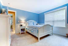 Blue Girls Kids Bedroom Interi...