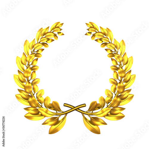Fotografie, Obraz  laurel wreath golden