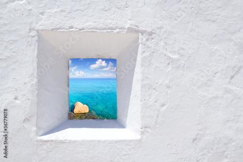 Fotografia Ibiza mediterranean white wall window