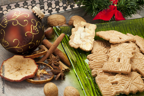 Dutch Christmas Cookies Spices And Decoration Buy This Stock