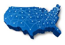 U.S.A 3D Map Communication Net...