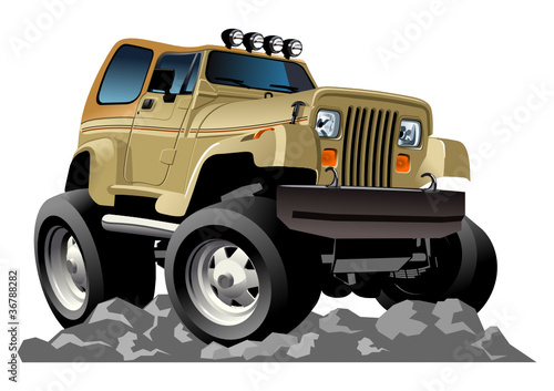 Poster Cars Vector cartoon jeep